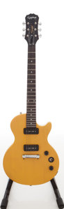 Musical Instruments:Electric Guitars, 2011 Epiphone Limited Edition Custom Shop Les Paul TV YellowSpecial Solid Body Electric Guitar, Serial # 1107130294....