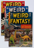 Golden Age (1938-1955):Science Fiction, Weird Fantasy #17, 21, and 22 Group (EC, 1953) Condition: AverageVG+.... (Total: 3 Comic Books)