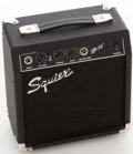 Musical Instruments:Acoustic Guitars, 2006 Fender Squire SP-10 Black Guitar Amplifier, Serial # AX0666991....