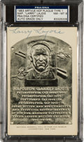 Autographs:Post Cards, Circa 1950 Napoleon (Larry) Lajoie Signed Black & White Hall ofFame Plaque, PSA/DNA NM-MT 8....