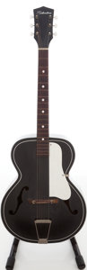 Musical Instruments:Acoustic Guitars, 1960s Silvertone Model 658 Black Archtop Acoustic Guitar....