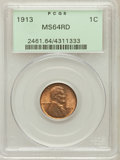 Lincoln Cents: , 1913 1C MS64 Red PCGS. PCGS Population (212/217). NGC Census:(200/178). Mintage: 76,532,352. Numismedia Wsl. Price for pro...