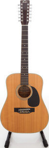 Musical Instruments:Acoustic Guitars, 1970s Fender F-55-12 12-String Natural Acoustic Guitar, Serial #F78009279....
