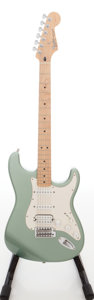 Musical Instruments:Electric Guitars, 2003 Fender Stratocaster Sage Green Metallic Solid Body ElectricGuitar, Serial # MZ3121458. ...