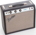 Musical Instruments:Amplifiers, PA, & Effects, 1977 Fender Champ Black Guitar Amplifier, Serial # A774104....