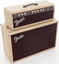 Musical Instruments:Amplifiers, PA, & Effects, 1961 Fender Tremolux White Guitar Amplifier Head and Cabinet, Serial # 01415. ...