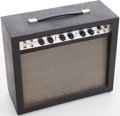 Musical Instruments:Amplifiers, PA, & Effects, 1960s Airline Model 62-9023A Black Guitar Amplifier. ...