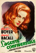 "Movie Posters:Drama, Confidential Agent (Warner Brothers, 1945). Italian 2 - Foglio (39""X 55"").. ..."