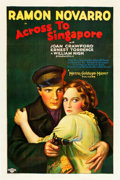 "Movie Posters:Drama, Across to Singapore (MGM, 1928). One Sheet (27.5"" X 40.75"").. ..."