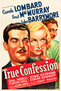 "Movie Posters:Comedy, True Confession (Paramount, 1937). One Sheet (27"" X 41"").. ..."