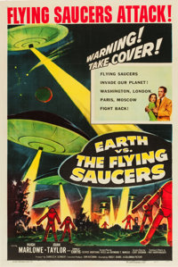 """Earth vs. the Flying Saucers (Columbia, 1956). One Sheet (27"""" X 41"""")"""