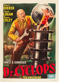 """Doctor Cyclops (Zeus, 1950s). Italian 2 - Foglio (39.5"""" X 55""""). From the collection of Wade Williams"""