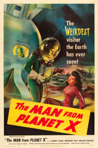 "The Man from Planet X (United Artists, 1951). One Sheet (27"" X 41""). From the collection of Wade Williams"