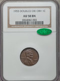 Lincoln Cents, 1955 1C Doubled Die Obverse AU58 NGC. CAC. FS-101....