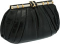 Luxury Accessories:Bags, Judith Leiber Black Lizard Clutch. ...