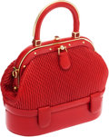 Luxury Accessories:Bags, Judith Leiber Red Leather Mini Bag. ...