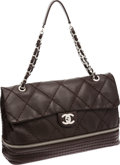 Luxury Accessories:Bags, Chanel Chocolate Lambskin Leather Expandable Maxi Single Flap Bagwith Silver Hardware. ...