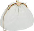 Luxury Accessories:Bags, Judith Leiber White Lizard Bag with Multicolor Cabochons . ...