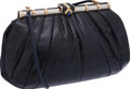 Luxury Accessories:Bags, Judith Leiber Navy Lizard Clutch. ...