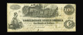 "Confederate Notes:1862 Issues, T39 $100 1862. This Very Fine note has a rare pencilled manuscript""Issued Palestine"" notation on the back...."