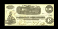 Confederate Notes:1862 Issues, T40 $100 1862. Issued in San Antonio, Texas. All Confederate notesissued west of the Mississippi River are scarce, and Tex...