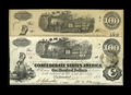 Confederate Notes:1862 Issues, T40 $100 1862. This C-note sports a bogus back and issuancestampings. A couple of pinholes are noticed. Very Fine. A se...(Total: 2 notes)