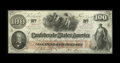 Confederate Notes:1862 Issues, T41 $100 1862. Bold embossing, a full frame line, and bright paperhighlight this $100 that was issued in San Antonio on Jun...
