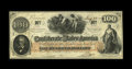 Confederate Notes:1862 Issues, T41 $100 1862. Embossing is strong on this lightly handled C-notethat has a rare red issued stamping of (I)ssued Sett.25. ...
