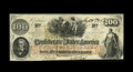 """Confederate Notes:1862 Issues, T41 $100 1862. A light blue rubber stamping of """"GICo."""" is noticedon the back of this eye-appealing note with a full hand-wr..."""