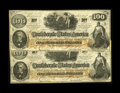 Confederate Notes:1862 Issues, CT41/315 Counterfeit $100 1862 Two Consecutive Examples. We havenot seen many consecutively numbered Confederate counterfei...(Total: 2 notes)