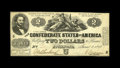 Confederate Notes:1862 Issues, T42 PF-5 $2 1862. Choice color is found on this About UncirculatedThird Series $2 that has a single fold. An approximat...
