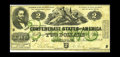 Confederate Notes:1862 Issues, T43 PF-1 $2 1862. A short-lived issue due to the adding of thegreen overprint by the printer Blanton Duncan and then the Co...