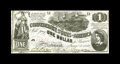 Confederate Notes:1862 Issues, T44 PF-3 $1 1862. This Crisp Uncirculated note carries a typicalcut for this design with slivers of two other notes sho...