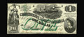 Confederate Notes:1862 Issues, T45 PF-2 $1 1862. The Confederate government was unwilling to payfor the added green overprint of this design resulting in ...