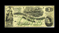 """Confederate Notes:1862 Issues, T45 PF-1 $1 1862. A nice mid-grade Fine-Very Fine example with alittle extra soil on the back. A pencilled """"123"""" is als..."""