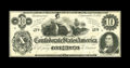 Confederate Notes:1862 Issues, CT46/344A Counterfeit $10 1862. Problem-free is this counterfeitthat is a faithful reproduction of a genuine note. Very F...