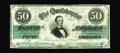 Confederate Notes:1862 Issues, T50 PF-4 $50 1862. A 3rd Series note that has a couple of lightfolds to the right of center. Extremely Fine-About Uncircu...