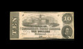 Confederate Notes:1862 Issues, T52 PF-9IB $10 1862 Inverted Back. This is an example of a veryrare inverted back error note. It carries serial number 7281...