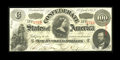Confederate Notes:1863 Issues, T56 $100 1863. Dark inks and a four-digit serial number awaits thebuyer of this embossed note. Crisp Uncirculated....