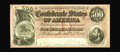 "Confederate Notes:1864 Issues, T64 $500 1864. Embossing is a highlight of this $500. A small red pencilled ""409"" is found on the back. Choice Crisp Uncir..."