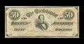 Confederate Notes:1864 Issues, CT66/501 Counterfeit $50 1864. This is an example of the so-called $50 Havana counterfeit. Counterfeits of this number are f...