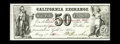 Obsoletes By State:Indiana, Washington, IN- California Exchange 50¢ May 1, 1862 Wolka UNL. The last of these unlisted rarities. Each of these notes, inc...