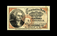 Port Jervis, NY- H.C.Cunningham 25¢ Harris UNL This is an issuer we have never seen previously and a commission scr...