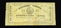 Obsoletes By State:Virginia, Richmond, VA- J.D. Edwards 25¢ July 14, 1862 Jones PR60-293. The first of two newly discovered examples from this issuer, wh...