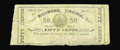 Obsoletes By State:Virginia, Richmond, VA- J.D. Edwards 50¢ July 14, 1862 Jones PR60-296. A second piece from this prohibitively rare issuer, this on gra...