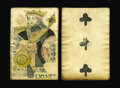 Canadian Currency: , French Colonial Issue Playing Card Money Two Examples.. This lotcontains two pieces of historical New France playing card m...(Total: 2 notes)