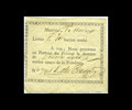 Canadian Currency: , Dobie & Badgley 1790 1 Livres (30 Sols) Private Bank MerchantNote. Another very rare example of this Montreal, Canada issue...
