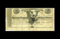 Canadian Currency: , Kingston, ON- Municipal Council of the Midland District £5 18__ Ch.MU12b. This scarce remainder from the early 1860s has e...