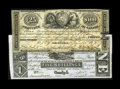 Canadian Currency: , Two Ontario Municipal Notes.. Brockville, ON- United Counties ofLeeds and Grenville £25 June 18, 1852 Ch. MU-1 VF,... (Total: 2notes)