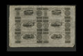 Canadian Currency: , Montreal, LC- Champlain & St. Lawrence Rail Road 71/2d-15d-2s.6d-7 1/2d-15d-2s.6d Aug. 1, 1837 Uncut Sheet. This isan inte...